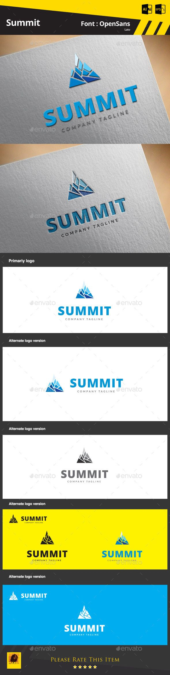 Summit Logo Template  Suitable for:  ? Design Studios ? Photography ? Web Pages ? Software and Apps ? Video Games and Clans ? Crea
