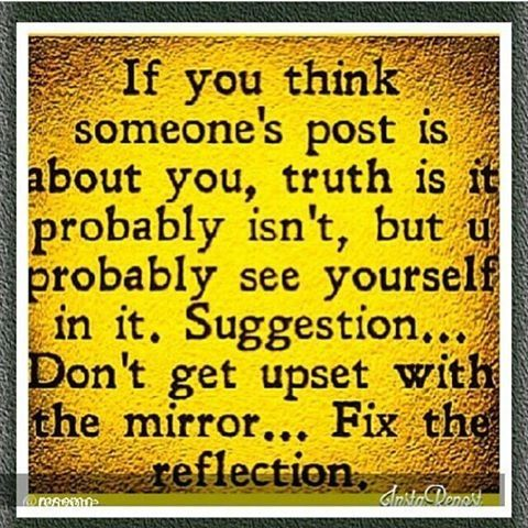 If you think someones post is about you quotes quote facebook