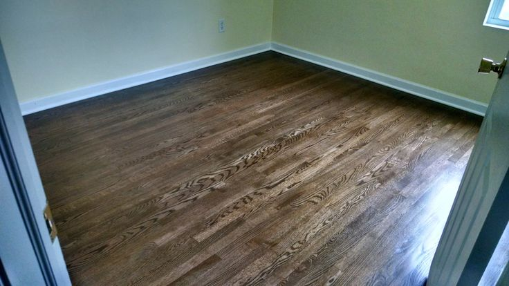 Minwax Jacobean Stain On Refinished White Oak Love The