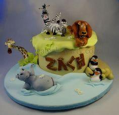 Zach's Madagascar Cake   Flickr - Photo Sharing!