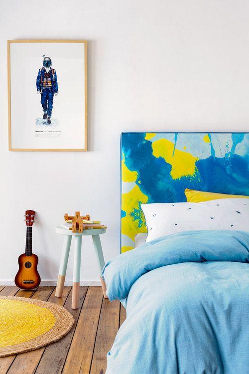 Love colours for a little boys room!