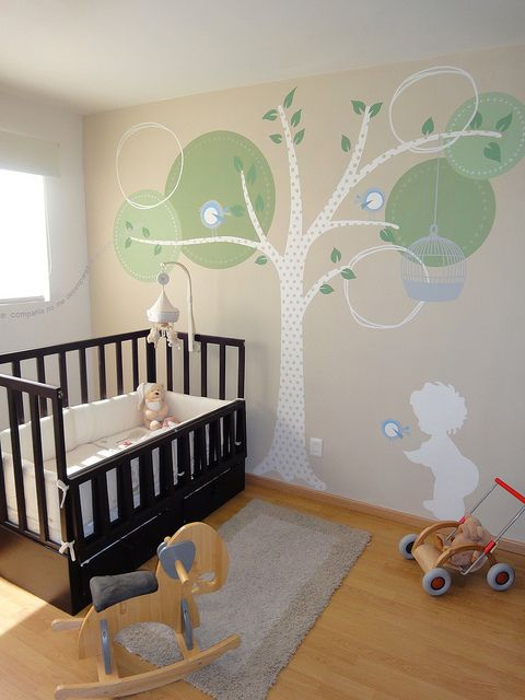 I really like this tree, even though I already painted a tree on Kate's wall, I might need this for future reference