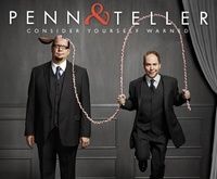 Penn and Teller's live show has been a hit on Broadway and now has a permanent home in Las Vegas at the Rio Suite Hotel and Casino. Known for their outrageous blending of comedy and magic, which often stretches the boundaries of traditional magic, this iconoclastic pair's live show on any given night can involve knives, guns, a fire-eating showgirl and a duck.  www.partner.viator.com/en/11907/tours/Las-Vegas/Penn-and-Teller-at-the-Rio-Suite-Hotel-and-Casino/d684-2836LASPEN