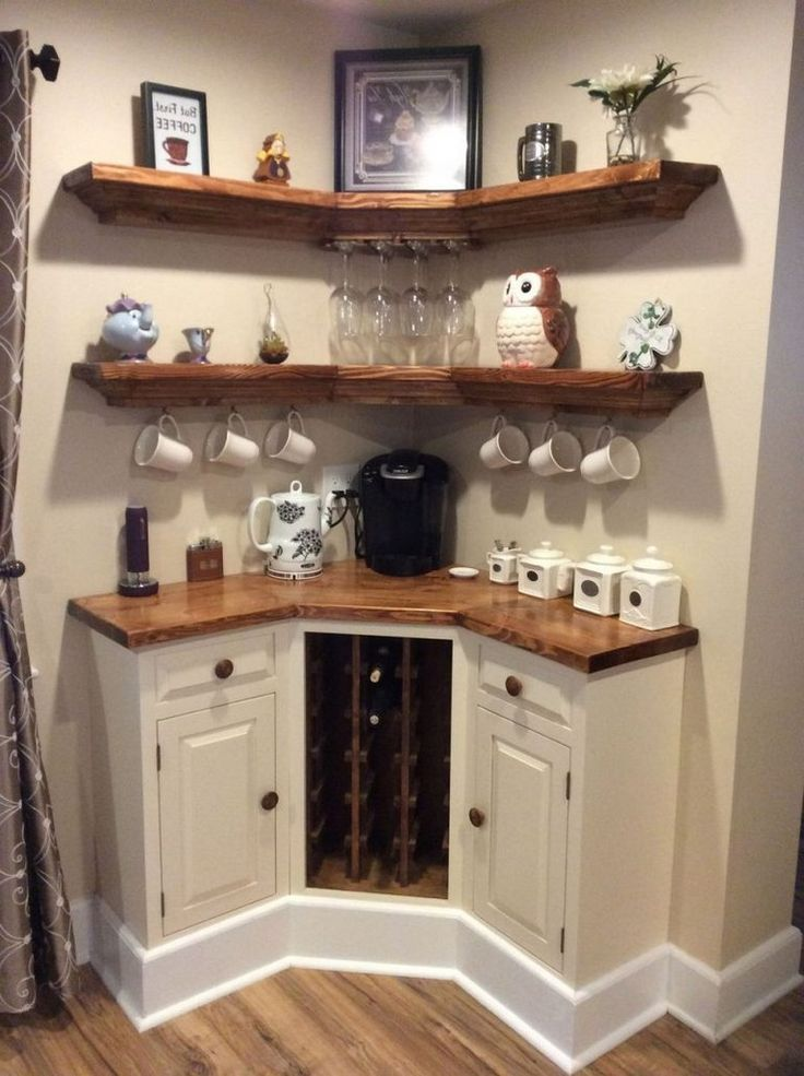 45 Amazing Corner Bar Cabinet Ideas For Coffee And Wine