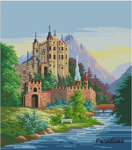 Castle Hohenschwangau  Cross stitch scheme PDF by ParadiseaShop