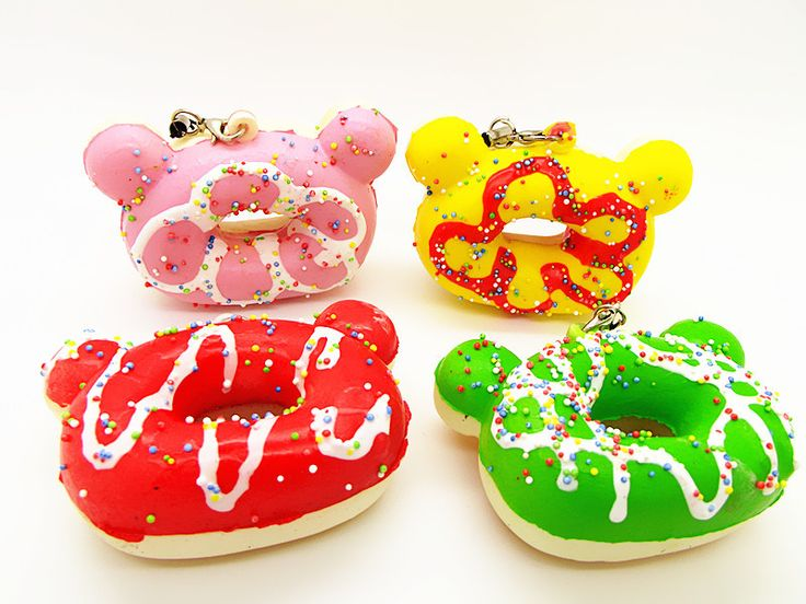 Lovely Kawaii Squishy rilakkuma Donuts Cute Yummy Micky Scented Chunky Donuts Cell Phone Charms Straps Wholesale Gift  FFC021-in Mobile Phone Straps from Phones & Telecommunications on Aliexpress.com $18.95