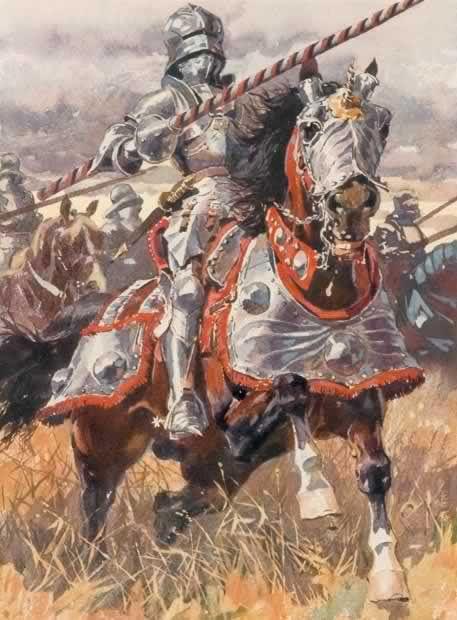 Śtâbat Mãtęr caballería pesada de finales del siglo XV.