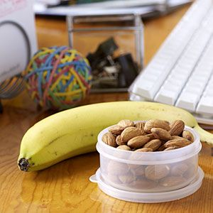 How to Eat Less: Becoming Portion Aware 8 Healthy Office Snacks | Desktop Snacks | CookingLight.com
