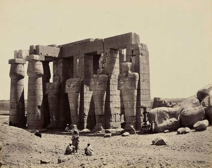 The Ramaseum. West Bank, Luxor, c. 1914.
