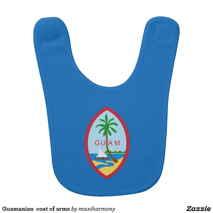 Guamanian  coat of arms baby bib