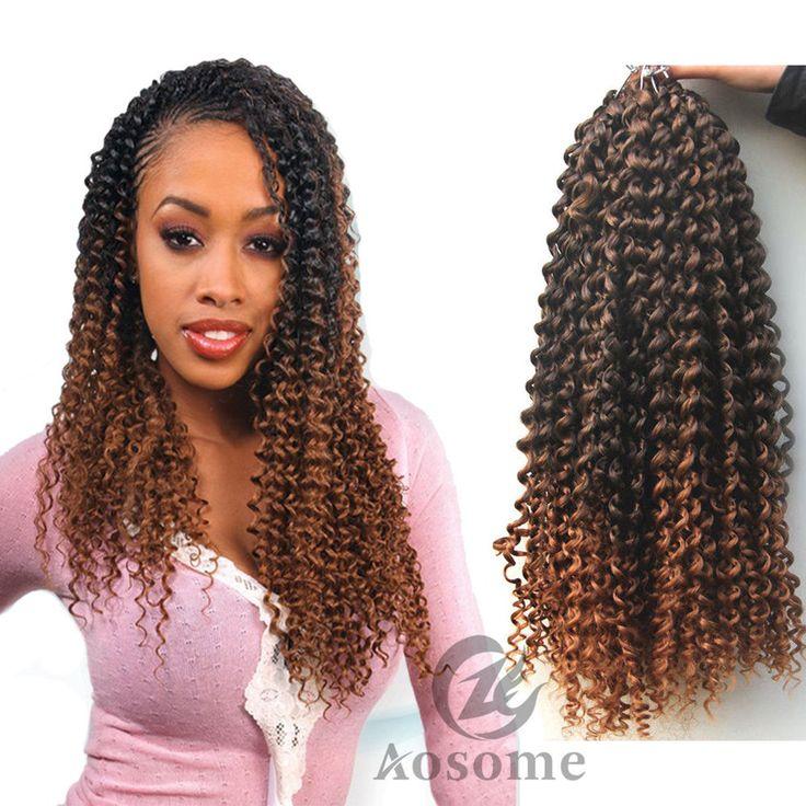 6Pack Freetress Synthetic Water Wave Bulk Braid Crochet Latch Hook Braiding Hair #AOSOME #waterwavesynthetichairextension
