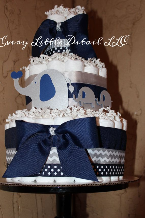Hey, I found this really awesome Etsy listing at https://www.etsy.com/listing/231369273/elephant-diaper-cakenavy-gray-elephant