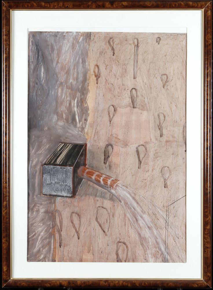 Jan-Kenneth Weckman, sekatekniikka, 91x61 cm - Hagelstam A125