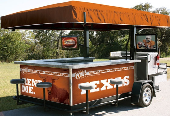 Ultimate rolling bar trailer tailgating ideas for Food truck bar