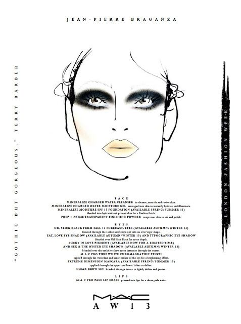 MAC London AW'13 Daily Face Chart For February 15th: Braganza, Sass