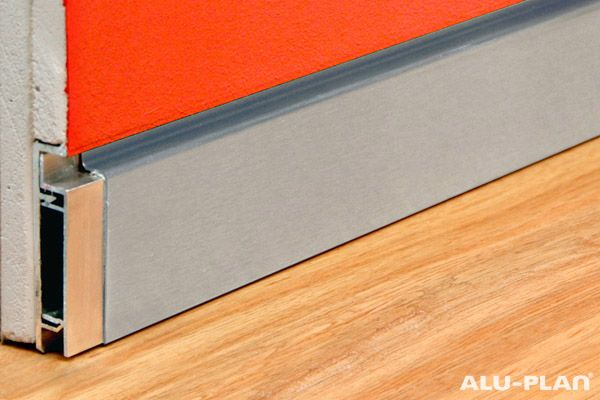 Baseboard flush with wall