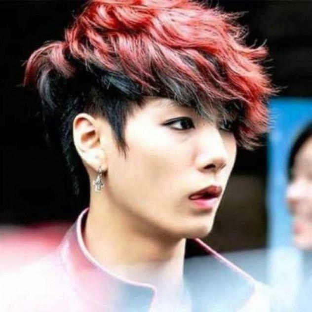 red and black korean men haircut #haircutideas #haircut #ideas #korean,  #Black #haircutideas...