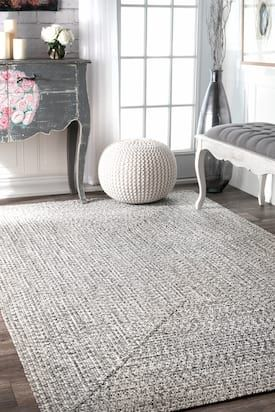 Rugs Usa Salt And Pepper Jubilee Solid Braided Indoor