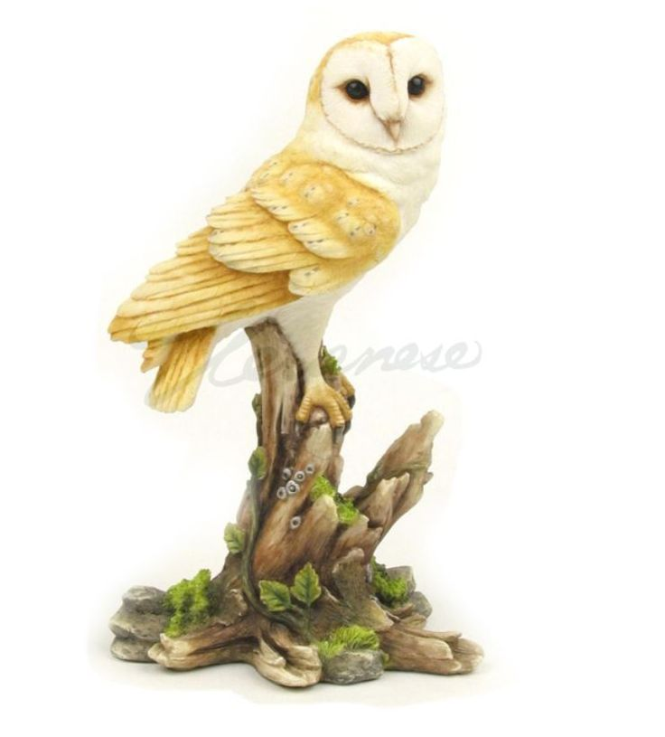 Barn Owl Statue. this beautiful Sculpture makes a bold statement. Material: Cold Cast Bronze. Gift Boxed.   eBay!