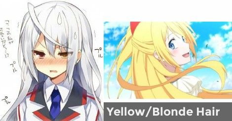 Anime Hair Color Quiz Anime Character Yellowblonde Hair What Would