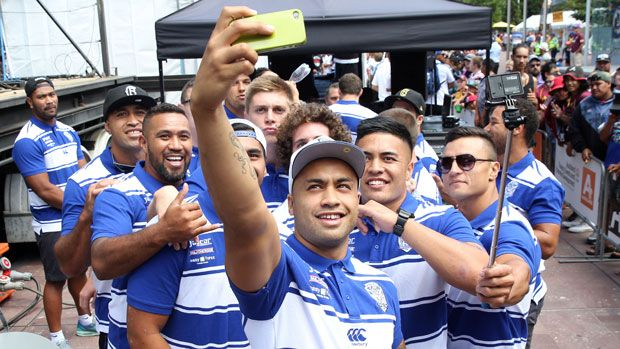 All 16 teams are in Auckland for the start of the 2015 NRL season and by the looks of their social media accounts, they are having a good time.