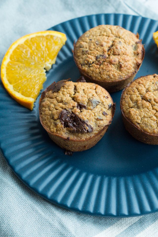 Appelsin-choko muffins
