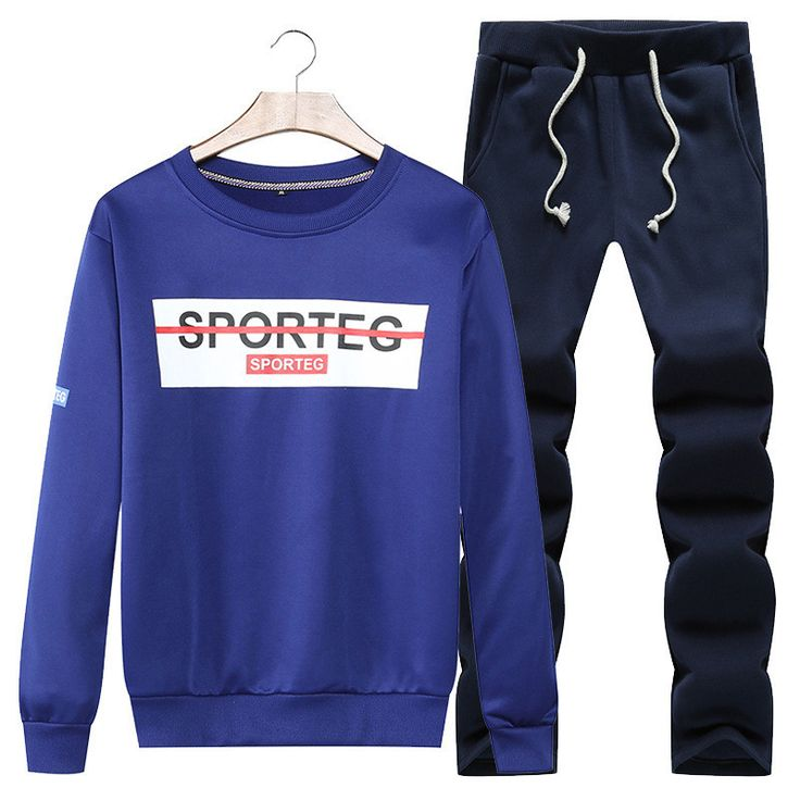 Casual Sportswear For Men Sweatshirt and Pants Plus Size Mens Tracksuit