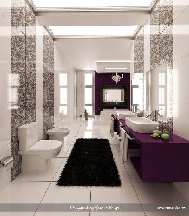 Best Perfectly Purple Baths Images On Pinterest Purple - Lavender bathroom rugs for bathroom decorating ideas