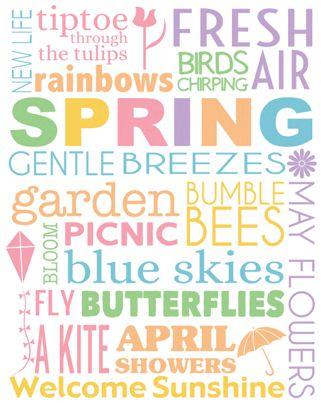 Spring Subway Art | Free Printable
