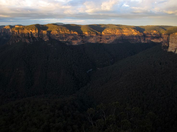 View from Evans Lookout, sunset