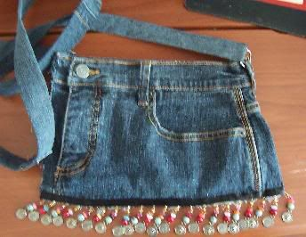 Purses made out of jeans purse made out of old jeans i grew out of