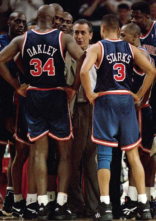 Charles Oakley John Starks New York Knicks Patrick Ewing Anthony Mason Greg  Anthony Pat Riley