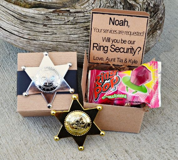 Ring POP  Ring Security Will You Be My Ring Bearer by AndOhSoCute