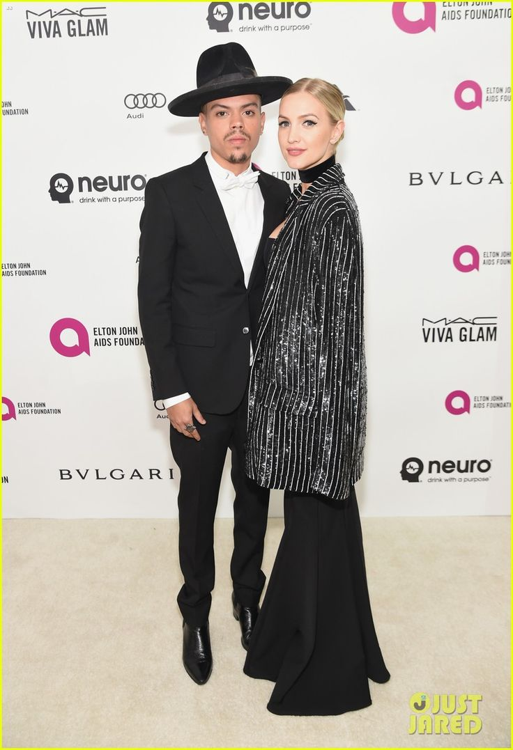 Ashlee Simpson & Evan Ross Couple Up at Elton John's Oscar Party 2016!