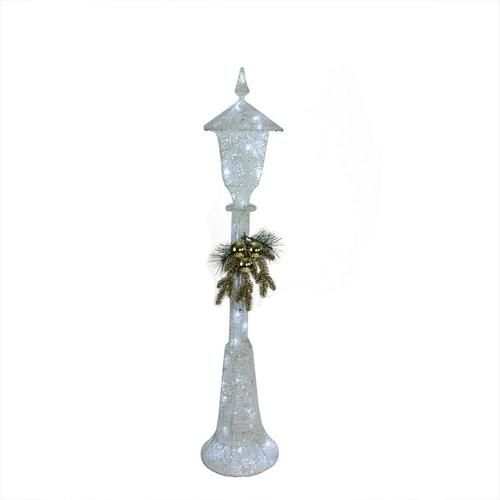"""48"""""""" LED Lighted Indoor/Outdoor Lamp Post Christmas Decoration - Cool White Lights"""