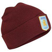 Aston Villa FC Official Crest Knit Hat Claret by Aston Villa F.C.. $12.99. One Size Adult Unisex. Officially licensed. Imported from the UK. Quality guaranteed. Brand new in packaging. Aston Villa Knit Hat . Brand new in packaging. We buy our Aston Villa soccer hats direct from the club's representatives in the UK. All Aston Villa hats come in official Aston Villa FC protective packaging with hologram and/or bar codes.