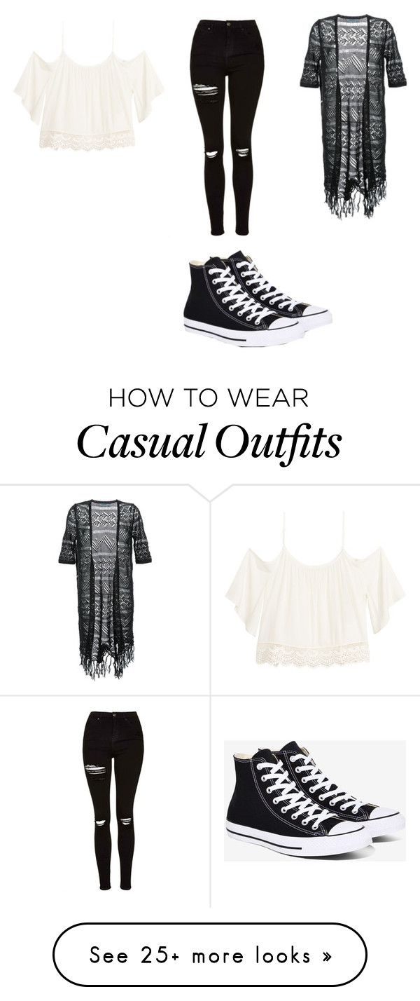 """Casual Outfit"" by chloethecrazy on Polyvore featuring Guild Prime, Topshop and Converse"