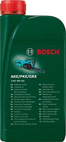 Be sure to keep a bottle of this oil with you wherever you are using your chainsaw.  Biodegradable oil for Bosch chainsaws Compatible with all Bosch AKE/PKE/GKE chainsaws 1 L biodegradable oil Keeps chainsaw chain lubricated and prevents rusting