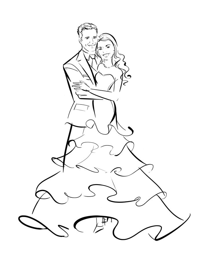 Such a great idea - an illustration of you and your sweetie!    #wedding #illustration by http://www.AstridMuellerExclusive.com