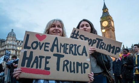 Trump is now openly mocked and hated anywhere outside his protected space. This US presidency is tarnished, and the British government should want no part of it
