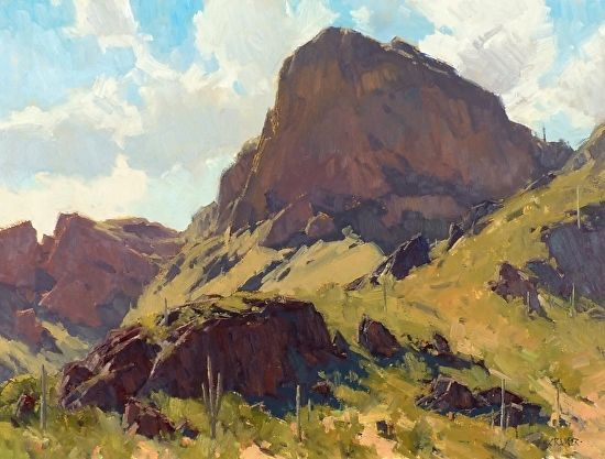 Picacho Piece by Bill Cramer Oil ~ 18 x 24