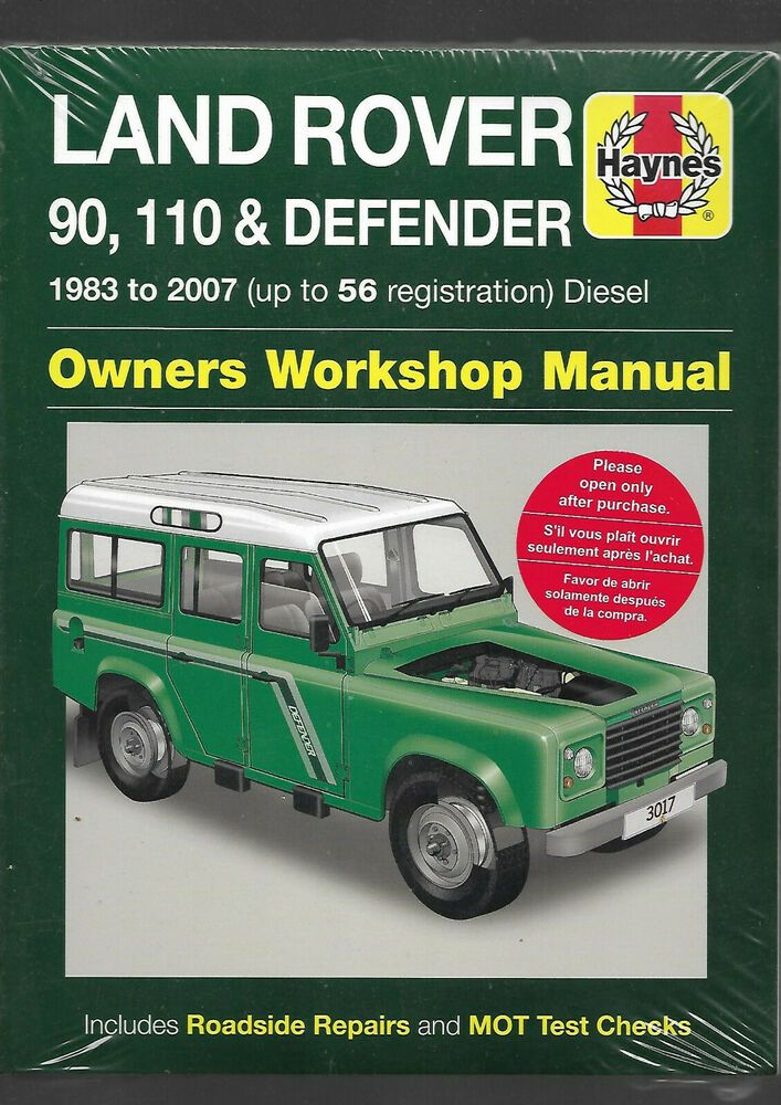Haynes New Land Rover 90 110 Defender Pick Up County Etc Owners Workshop Manual New Land Rover Land Rover Defender