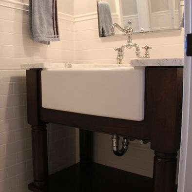 Bathroom Farmhouse Sink Design Pictures Remodel Decor And Ideas