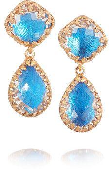 Larkspur & Hawk Jane rose gold-dipped topaz earrings | NET-A-PORTER