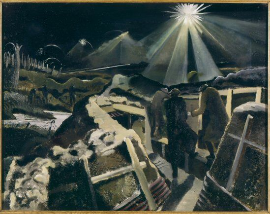 "Paul Nash, ""The Ypres Salient by Night"" (1918) - Miss Chivers grandfather was killed here in 1917"