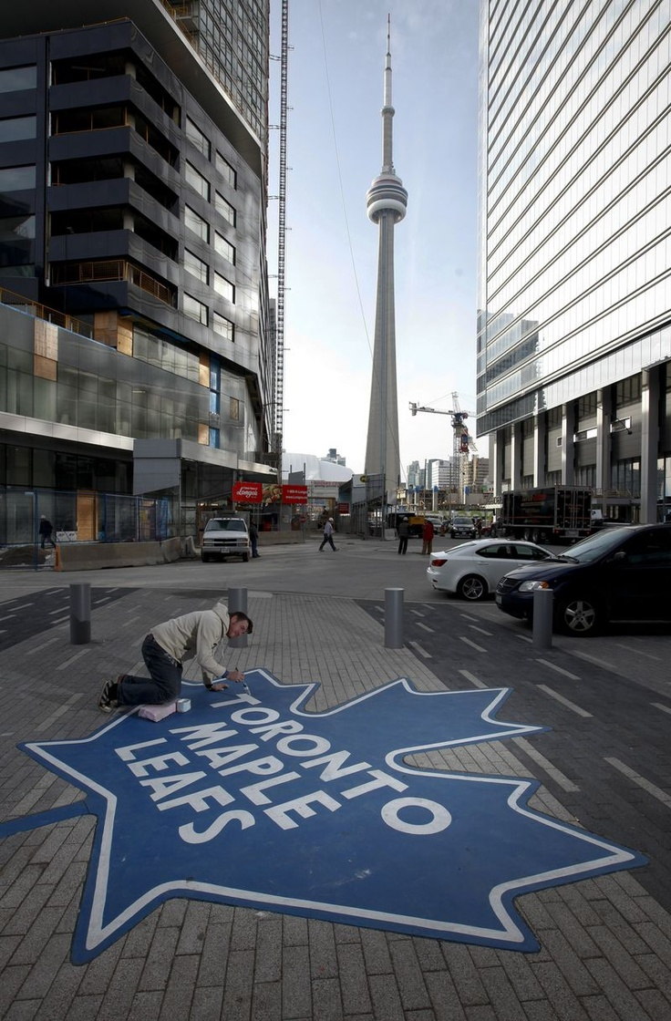 CN Tower and Toronto Maple Leafs, Toronto,ontario, Canada