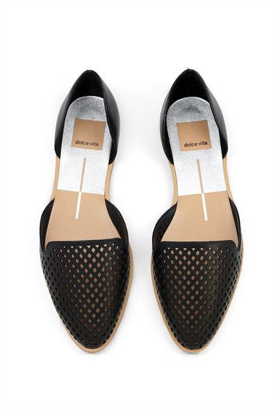 Laynie Flat. I love the perforated detail and the simple slid in style.