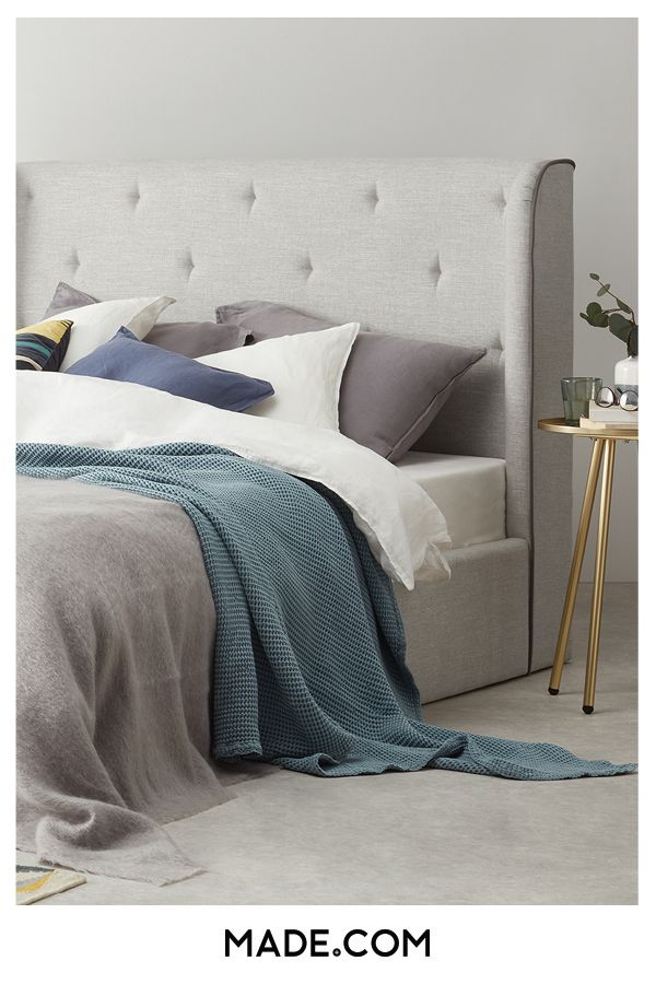 bea2320c230e Ormond Super King Size Bed with Storage, Chic Grey in 2019 | I'll live here  with you | Super king size bed, Bed, Quilted headboard