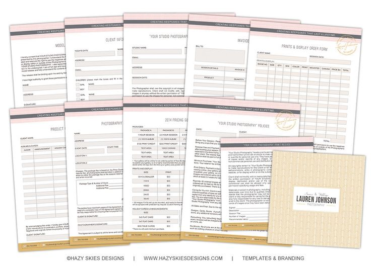 Photography Order Form Instant Download ◅ Photography Marketing - purchase order contract template