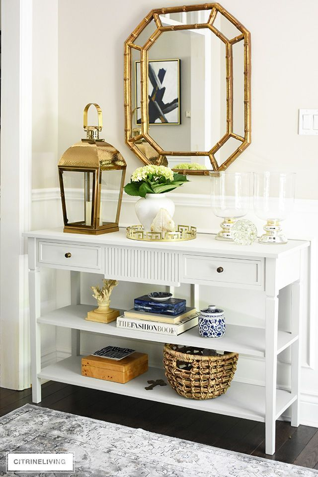 Simple Summer Decorating Ideas For Your Entryway Foyer Design